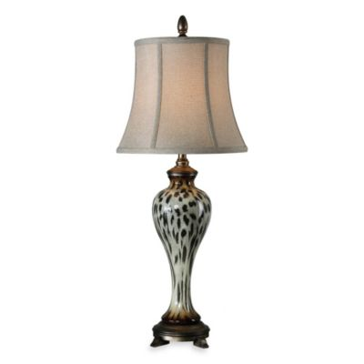 Uttermost Malawi Cheetah Print Buffet Table Lamp