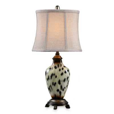 Uttermost Malawi Burnished Cheetah Print Table Lamp