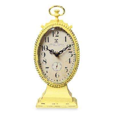 Creative Co-Op Metal Tabletop Clock Vintage