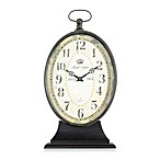 Decorative 22-Inch Tabletop Clock in Black