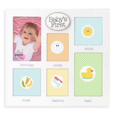 Baby's Firsts Collage Frame