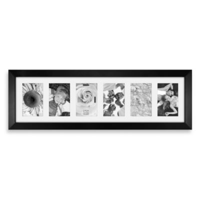 Berkeley 6-Opening Picture Frame in Matted Black