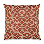 Linked Tile Bouclay Square Toss Pillow in Rust