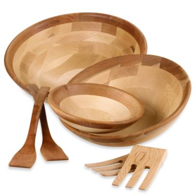 Snow River Cherry Finish Salad Servers
