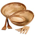 Maple and Cherry Finish Salad Serveware