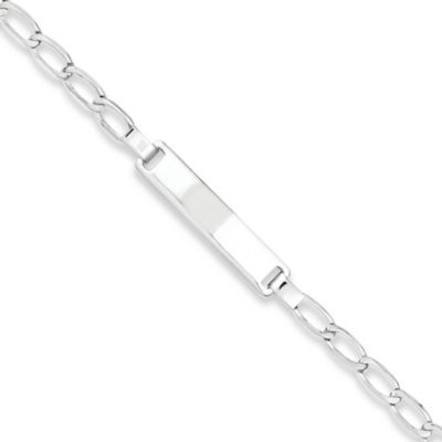 Sterling Silver Engravable 5.5-Inch Child's ID Bracelet