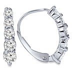 14k White Gold 0.75ct Diamond Lever Back Earrings