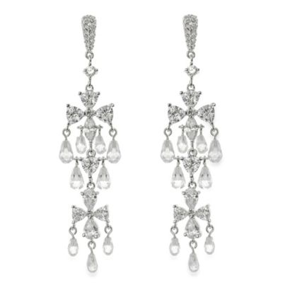 CZ by Kenneth Jay Lane Briolette Chandelier Earrings