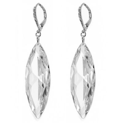 CZ by Kenneth Jay Lane Briolette Marquis Earrings