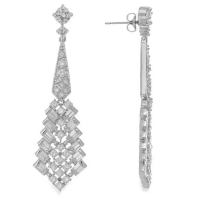 CZ by Kenneth Jay Lane 10 cttw Cubic Zirconia Deco Earrings