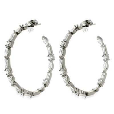 CZ by Kenneth Jay Lane Multi Shape Hoops