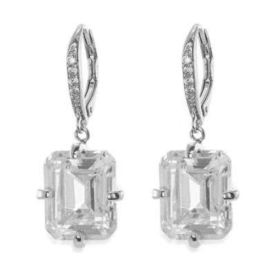 CZ by Kenneth Jay Lane 10 cttw Cubic Zirconia Asscher Drop Earrings