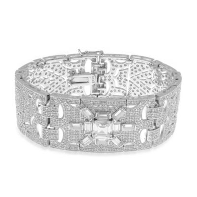 CZ by Kenneth Jay Lane Cubic Zirconia Vintage Statement Bracelet