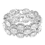 CZ by Kenneth Jay Lane Cubic Zirconia Oval Statement Bracelet