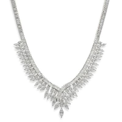 CZ by Kenneth Jay Lane Vintage Inspired Art Deco Necklace