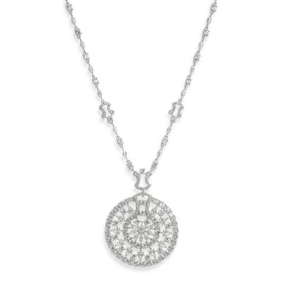 CZ by Kenneth Jay Lane Sundial Statement Necklace