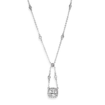 CZ by Kenneth Jay Lane 6 cttw Cubic Zirconia Classic Cushion Necklace
