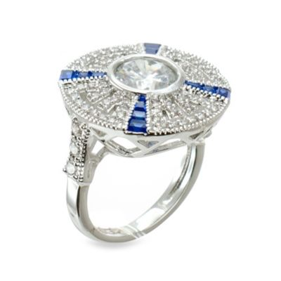 CZ by Kenneth Jay Lane Iconic Deco Wheel Ring