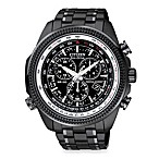 Citizen Men's Eco-Drive Perpetual Chronograph Stainless Steel Watch in Black