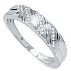 10K White Gold Men's Diamond Ring