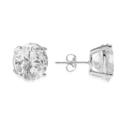 CZ by Kenneth Jane Lane Rhodium Plated 10 cttw Cubic Zirconia Stud Earrings