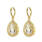 CZ by Kenneth Jay Lane 10 cttw Pear Pave Basket Earrings