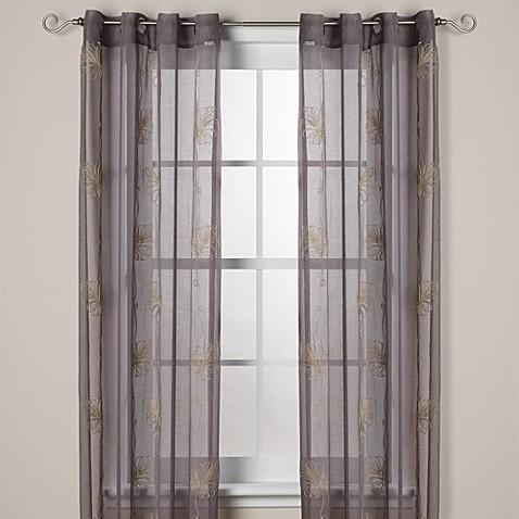J queen new york islander sheer 63 inch grommet window for Curtains and drapes nyc