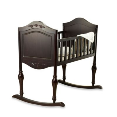 Lisa Expresso Cradle with Mattress by Sorelle