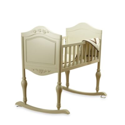 Lisa French White Cradle with Mattress by Sorelle