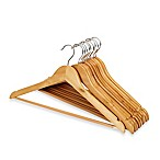 E-Z Do Wood Suit Hangers in Blonde (Set of 12)