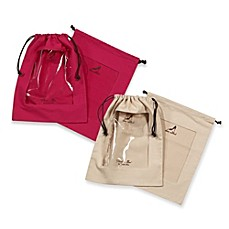 Clear Peek-a-Boo Window Shoe Bag (Set of 2)