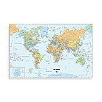 WallPops Dry Erase 24-Inch W x 36-Inch L World Map