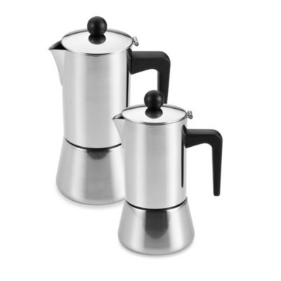 BonJour® Stovetop Stainless Steel Espresso Makers