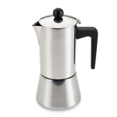 BonJour® 6-Cup Stovetop Stainless Steel Espresso Maker
