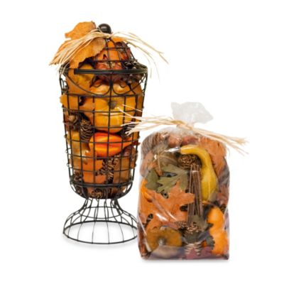 Harvest Blossom Romantic Urn Potpourri in Orange
