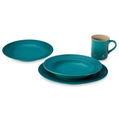 Le Creuset® 4-Piece Dining Set in Caribbean