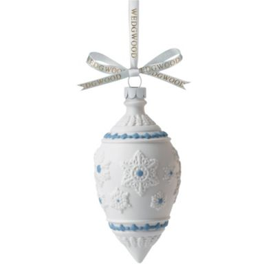 Wedgwood® Snowflake Teardrop Decorative Ornament