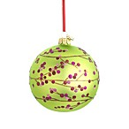 Reed & Barton®  Glass Blown Berry Branch Ball Ornament