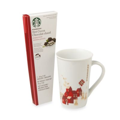 Starbucks® Holiday Cocoa Mug With Peppermint Cocoa Gift Set