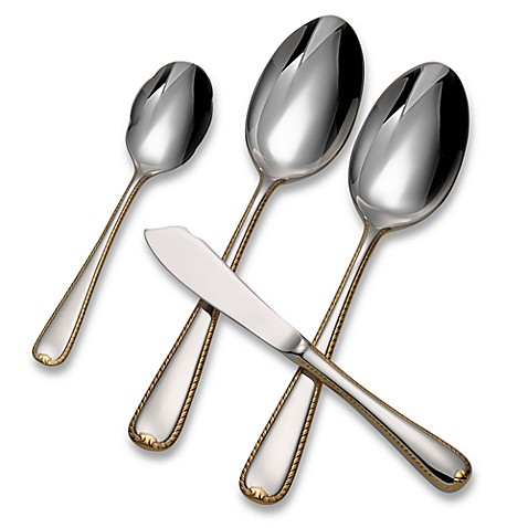 Gorham® Golden Ribbon Edge™ 4-Piece Serving Set
