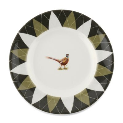Spode® Glen Lodge Pheasant Argyle Bread and Butter Plate (Set of 4)