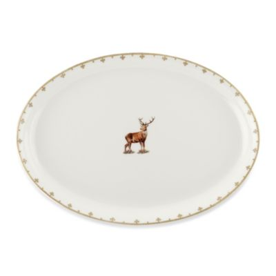 Spode® Glen Lodge Stag 13-Inch Oval Platter