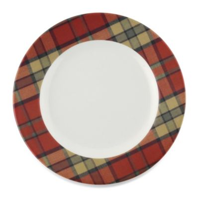 Spode® Glen Lodge Tartan Red Dessert Plate (Set of 4)