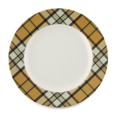 Spode® Glen Lodge Tartan Tan Dessert Plate (Set of 4)