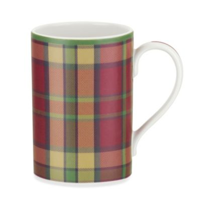 Spode® Glen Lodge Tartan Red Mug (Set of 4)