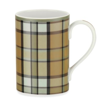 Spode® Glen Lodge Tartan Mugs in Tan (Set of 4)