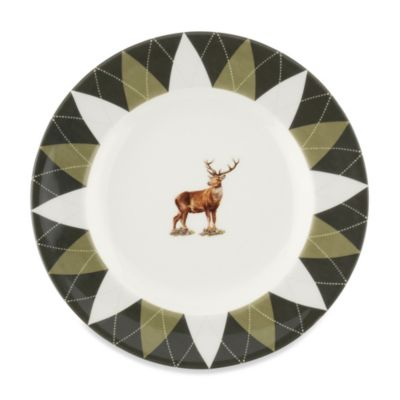 Spode® Glen Lodge Stag Argyle Bread and Butter Plate (Set of 4)