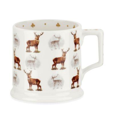 Spode® Glen Lodge Stag Tankard Mug (Set of 4)