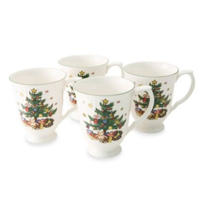 Nikko Happy Holidays 10-Ounce Coffee Mugs (Set of 4)