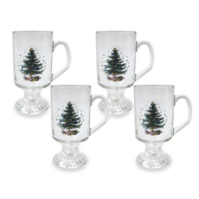 Nikko Christmas 10-Ounce Hot Beverage Mugs (Set of 4)